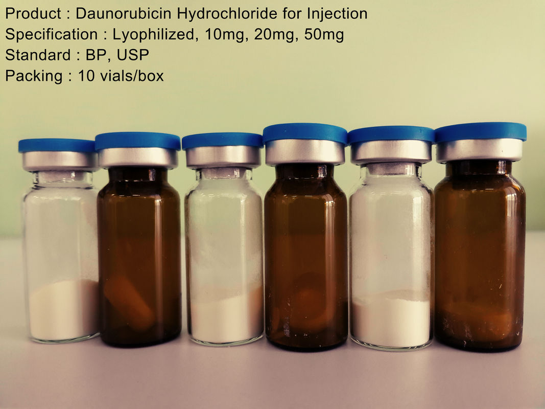 Antineoplastic Lyophilized Powder Injection / Daunorubicin Hydrochloride Injection 20mg Anti cancer
