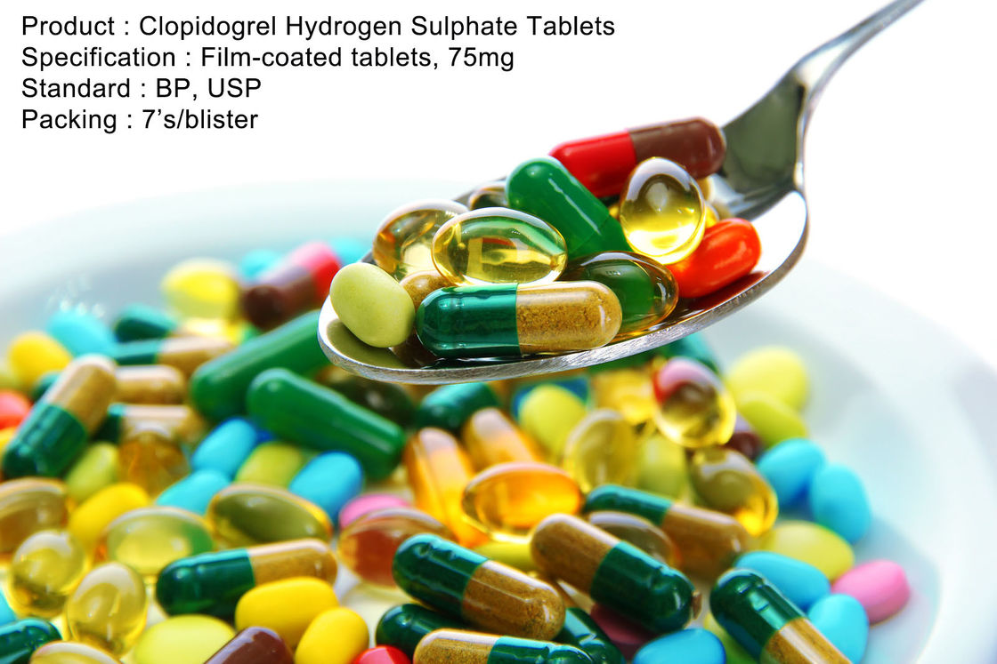 Clopidogrel Hydrogen Sulphate Tablets Film-coated tablets, 75mg Oral Medications
