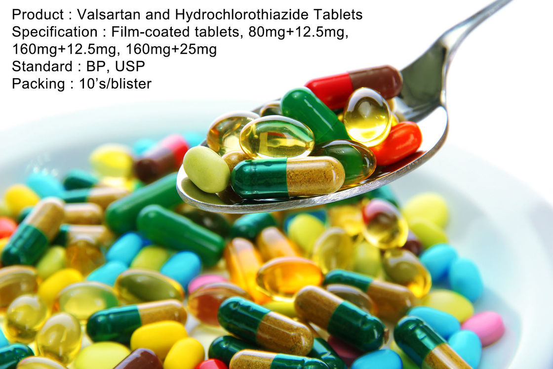 Valsartan and Hydrochlorothiazide Tablets Film-coated tablets, 80mg+12.5mg, 160mg+12.5mg, 160mg+25mg
