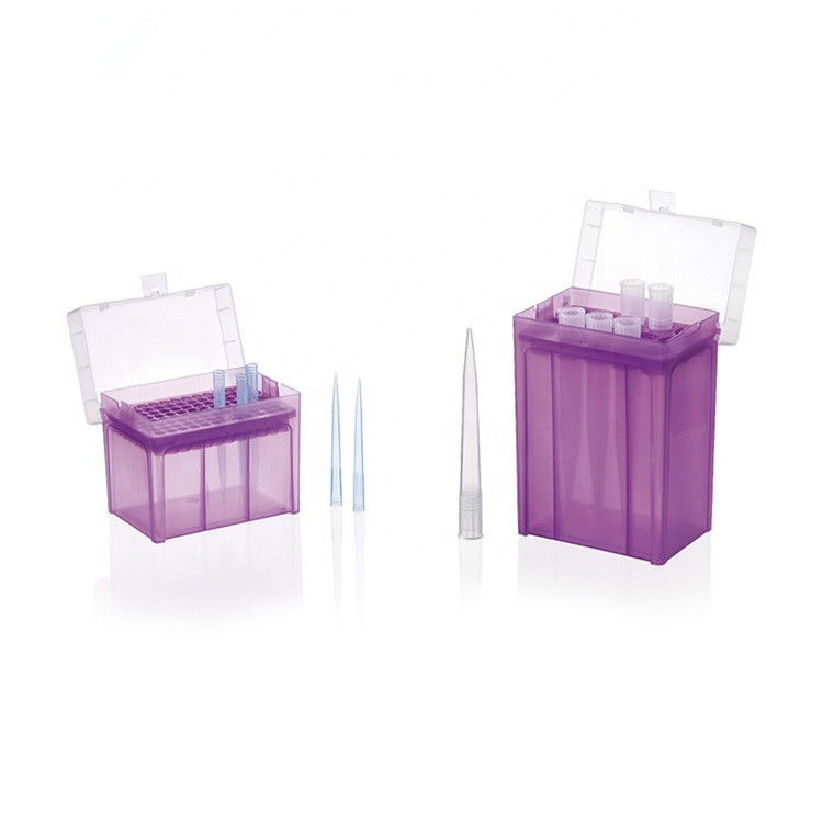 Multicolor plastic 1000 ul pipette tips boxes