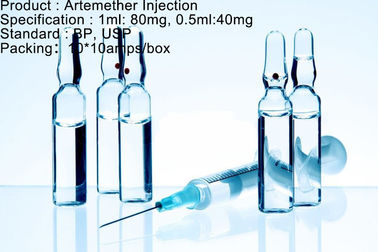 Antimalarial van de de Injectiedosering van Agentenartemether Antimalarial Medicijn 80mg/1ml 40mg/0.5ml
